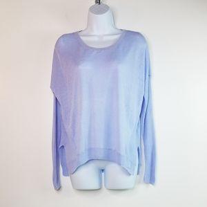 Victoria's Secret blue linen blend sweater